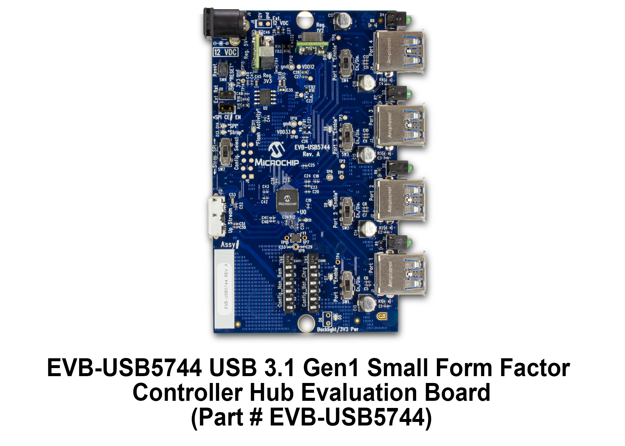 Development Tools Usb Interface Schematic Provides The Necessary Requirements And Options For Evaluating Usb5744 Smart Hub On A 4 Layer Rohs Compliant Printed Circuit Board Pcb
