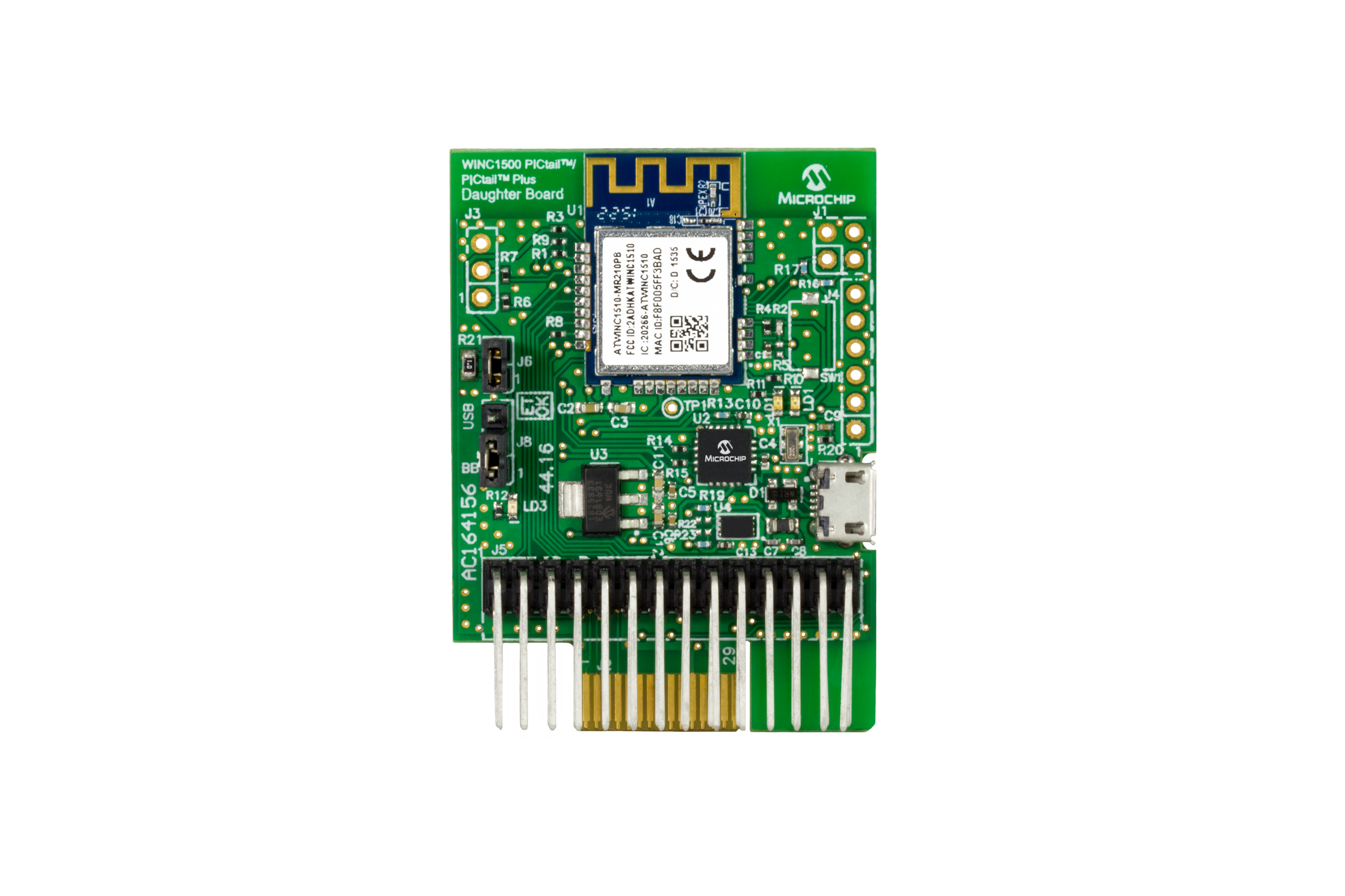 development toolsthe winc1500 pictail pictail plus daughter board is a demonstration and development board for the winc1510 mr210pb certified wi fi module