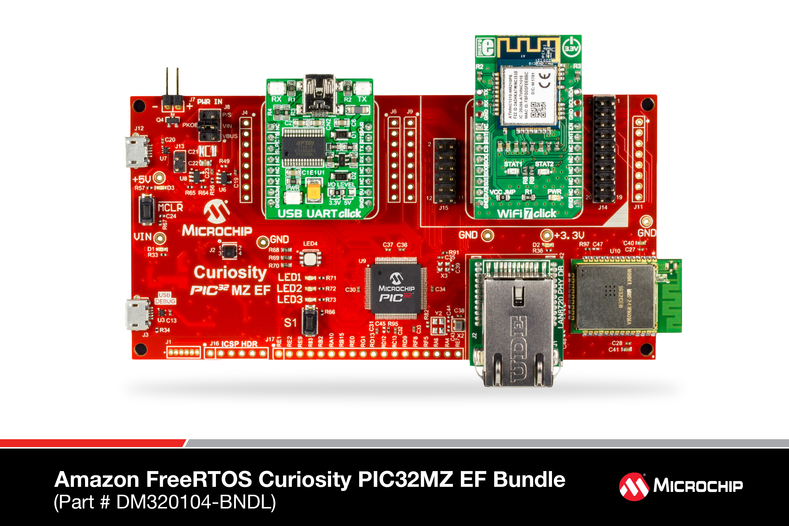 Development Tools Led Circuit Board Kits This Kit Uses A Flashing Amazon Freertos Curiosity Pic32mz Ef Bundle Is Used To Develop Based Applications The Consists Of
