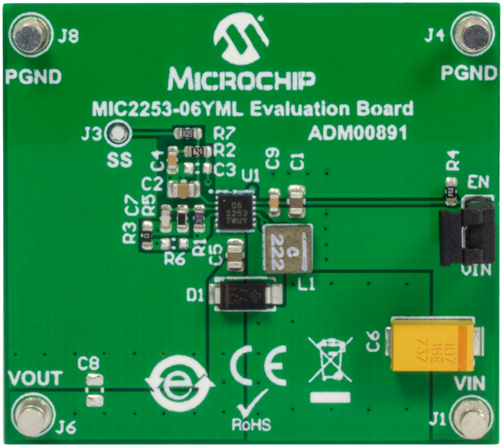 Development Tools Efficient Led Driver Works With Single Aa Cell Mic2253 Evaluation Board Was Developed To Evaluate The Capabilities Of High Efficiency 35a Switch Current Limit Integrated