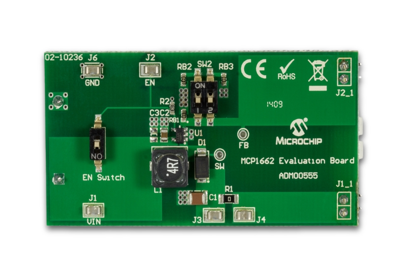 MCP1662 Evaluation Board ADM00555