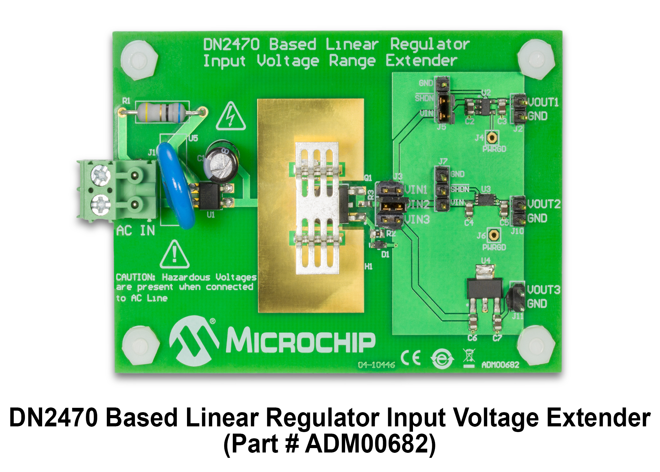 DN2470 Based Linear Regulator Input Voltage Range Extender Evaluation Board ADM00682