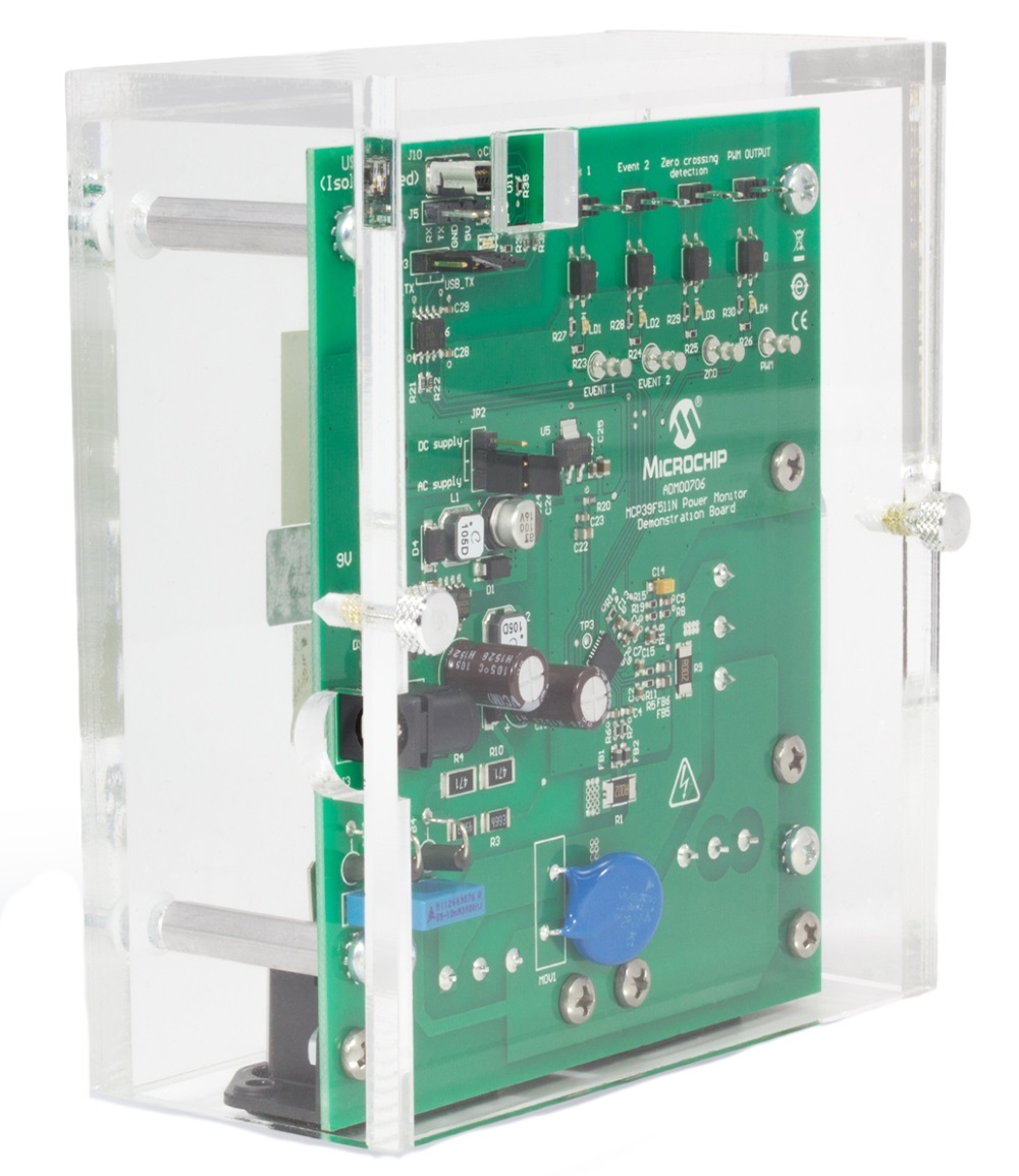 Development Tools Solutions Isolated Power Supply With Virtual Remote Sense The Mcp39f511n Monitor Demonstration Board Is A Fully Functional Dual Channel Single Phase And Energy Monitoring System