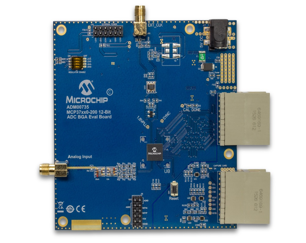MCP37x10-200 12-Bit Single Channel Evaluation Board ADM00735