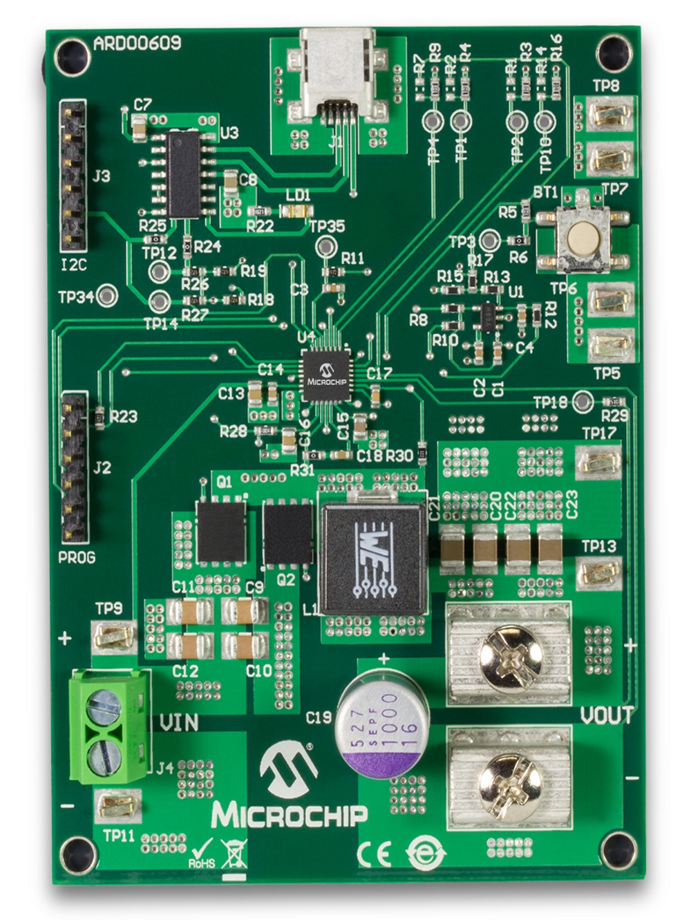 MCP19111 PMBus-Enabled POL Board ARD00609