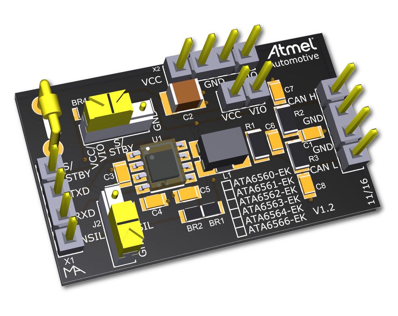 Development Tools The Miniature Circuit Board Has 256mb Of Ram One Audio And Two Usb For Ata6560 Enables Users To Rapidly Carry Out Prototyping Testing New Can Designs With High Speed