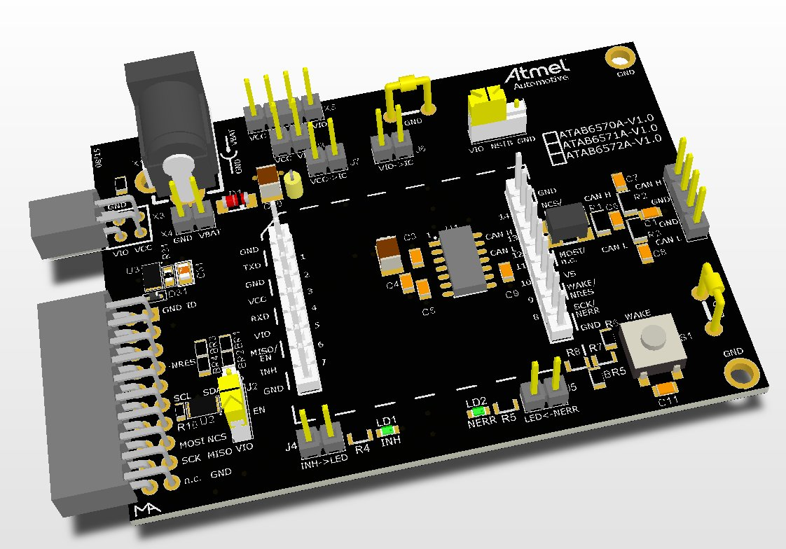 Development Tools Notebook Ide Interface Cdrom To Usb External Drive Circuit Boardred The Board Atab657xa Is A Hardware Platform Evaluate New Ata657x Can Device Family And Enables Users Rapidly Prototyping Testing Of