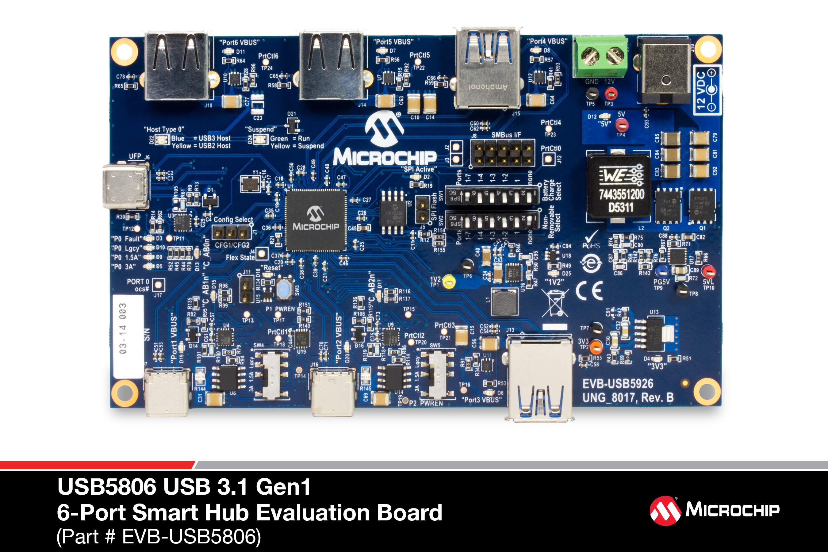 Development Tools Wii Component Cable Schematic Necessary Requirements And Interface Options For Evaluating The Usb5806a 6 Port Ss Hs Usb Smart Hub On A 4 Layer Rohs Compliant Printed Circuit Board