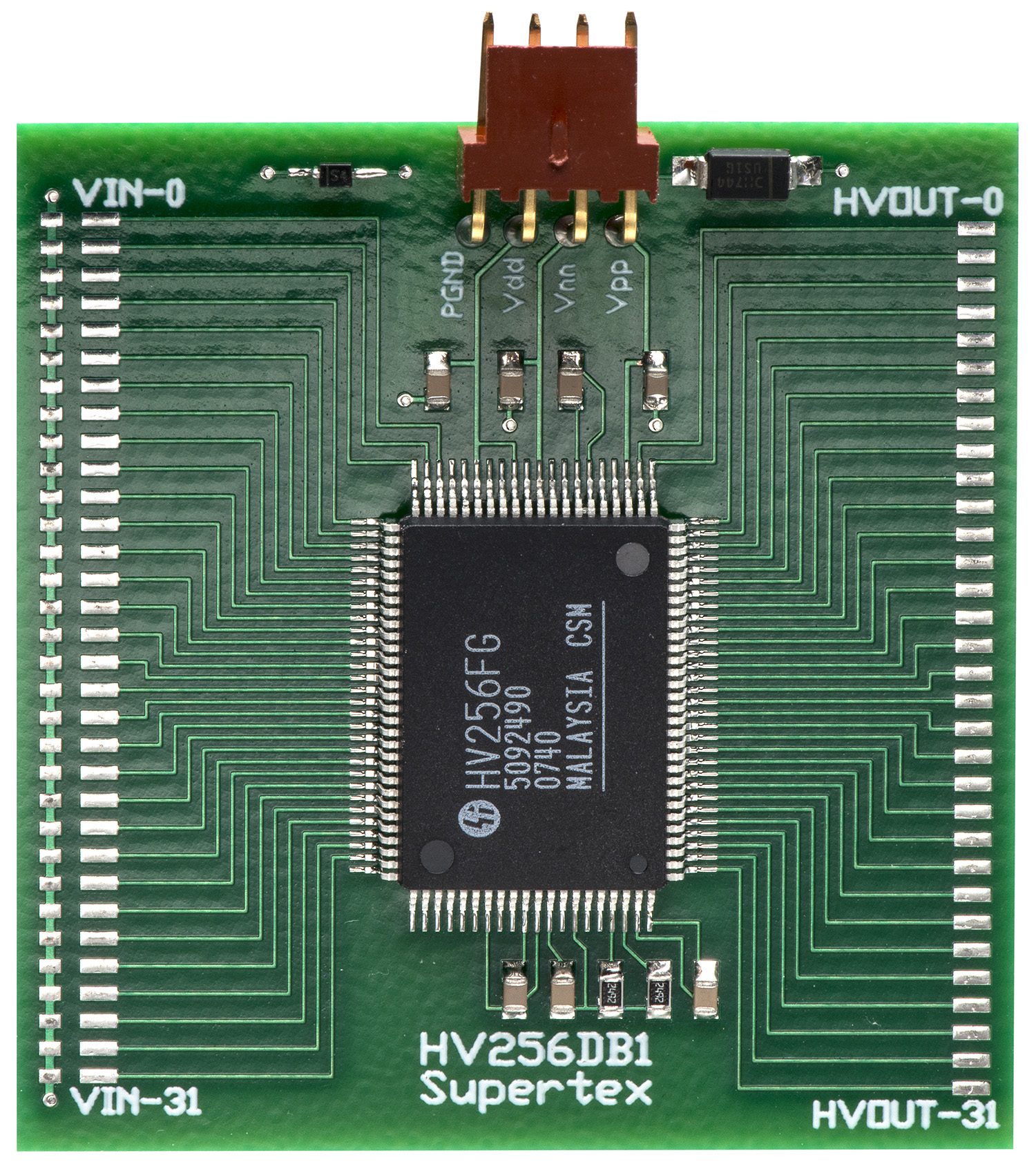 Development Tools High Voltage Power Mosfet Could Be Used Just As Easily Array With A Nominal Gain Of 72v V The Purpose Hv256db1 Is To Provide Means Evaluate Hv256fg G Device Supply
