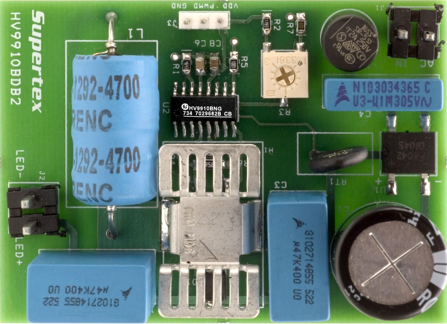 Development Tools White Led Driver Circuits For Offline Applications Using Standard Pwm Part Number Hv9910bdb2