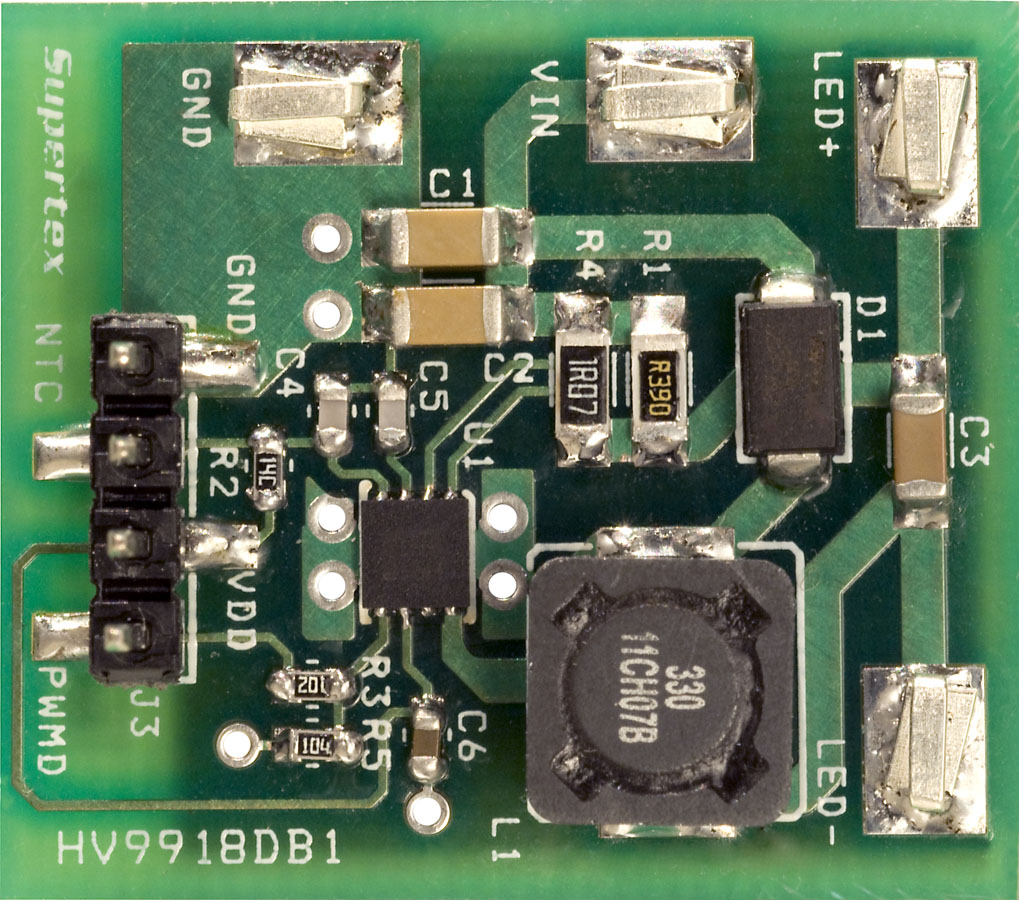 Development Tools White Led Driver Circuits For Offline Applications Using Standard Pwm Part Number Hv9918db1
