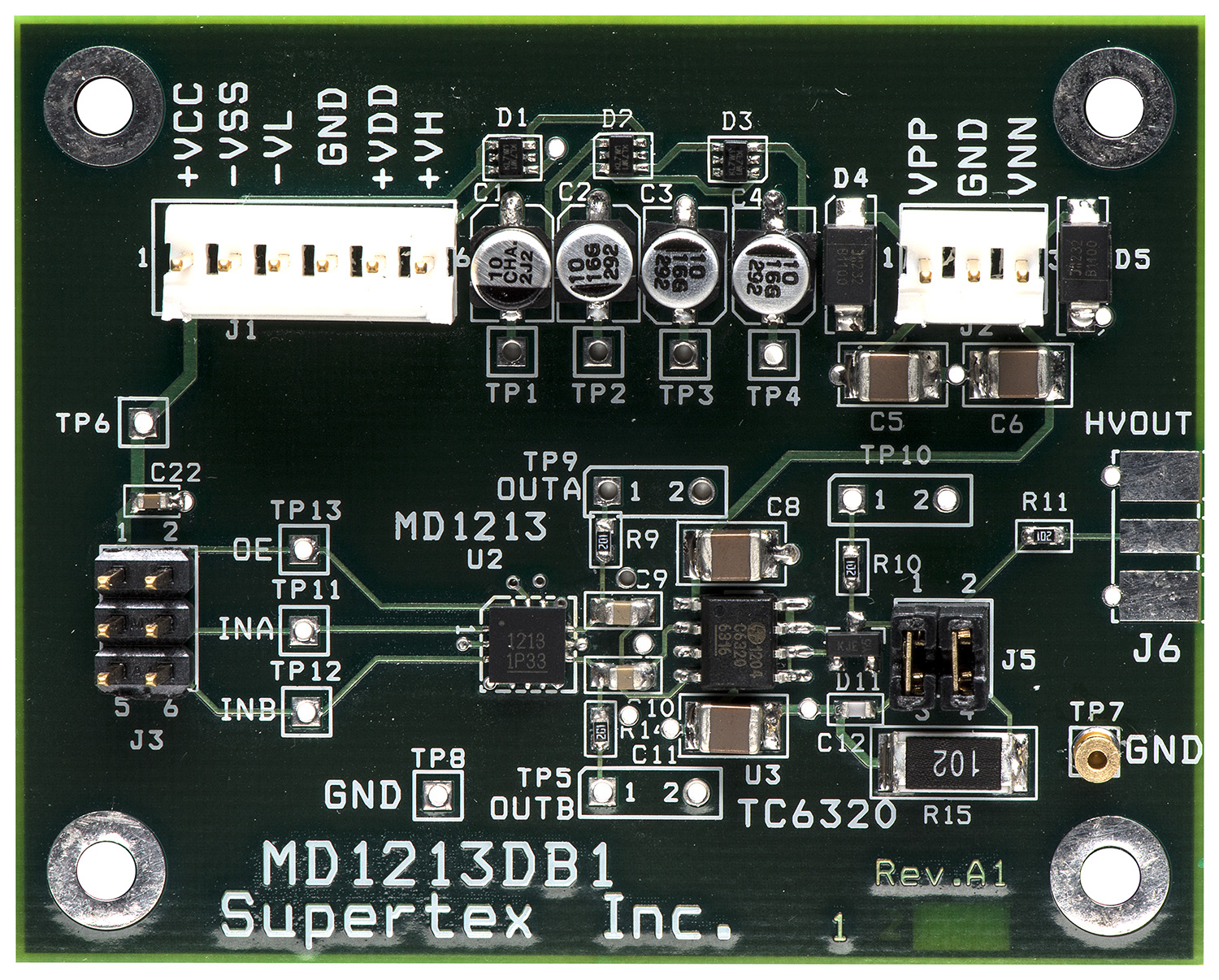 Development Tools Converter Circuit Board Pcb Ultrasonic Sensor Buy The Md1213db1 Can Drive A Transducer As Single Channel Transmitter For Ultrasound And Other Applications Demoboard Consists Of One Md1213 In