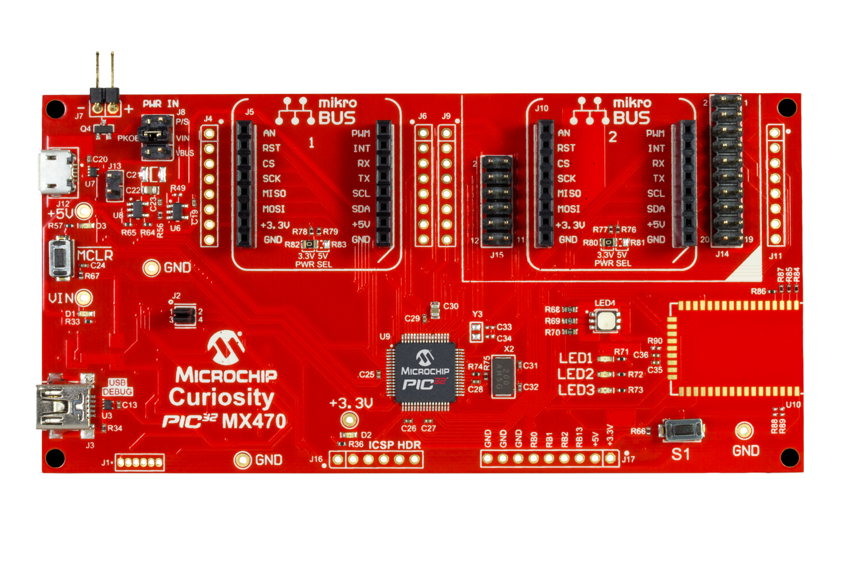 Development Tools So This Is Itnow Use Your Microcontroller Pic16f877a To Give 5v The Curiosity Pic32 Mx470 Board Features Pic32mx Series Pic32mx470512h With A 120mhz Cpu 512kb Flash 128kb Ram Full Speed Usb And Multiple