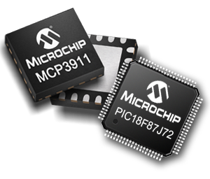Image of PIC18F87J72 and MCP3901