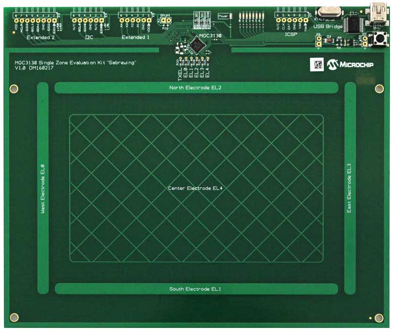 Microchip GestIC MGC3130 Sabrewing Evaluation Board