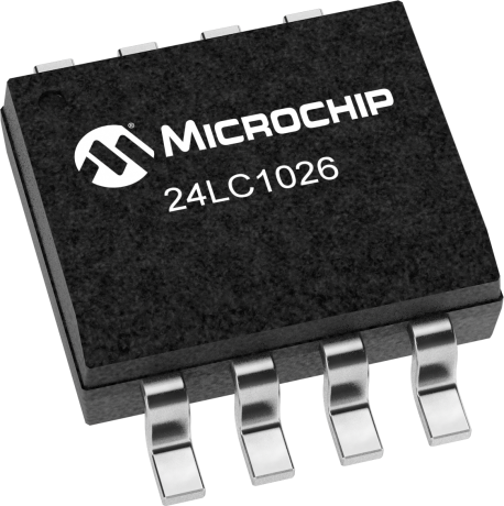 Microchip 24LC1026-I//SN Serial EEPROM,1MBit,400KHZ,SOIC-8