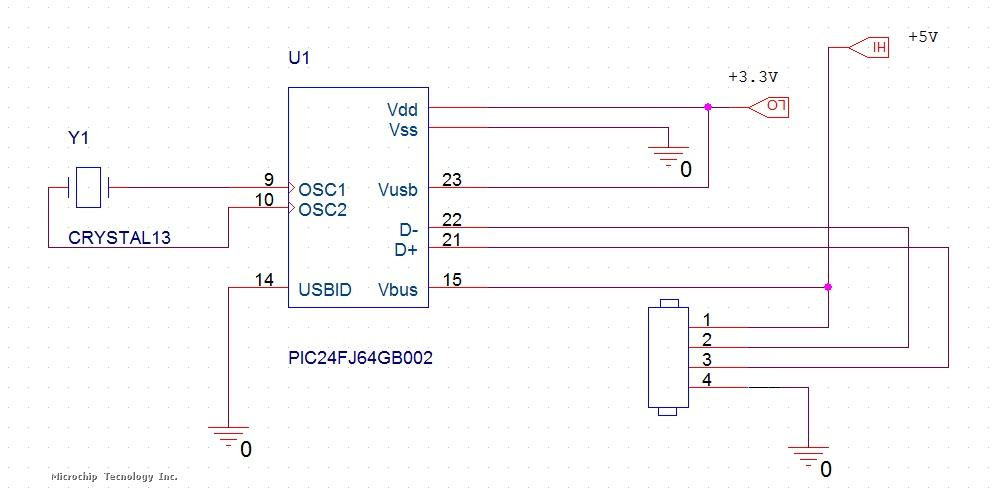 Schematic for USB HOST | Microchip on