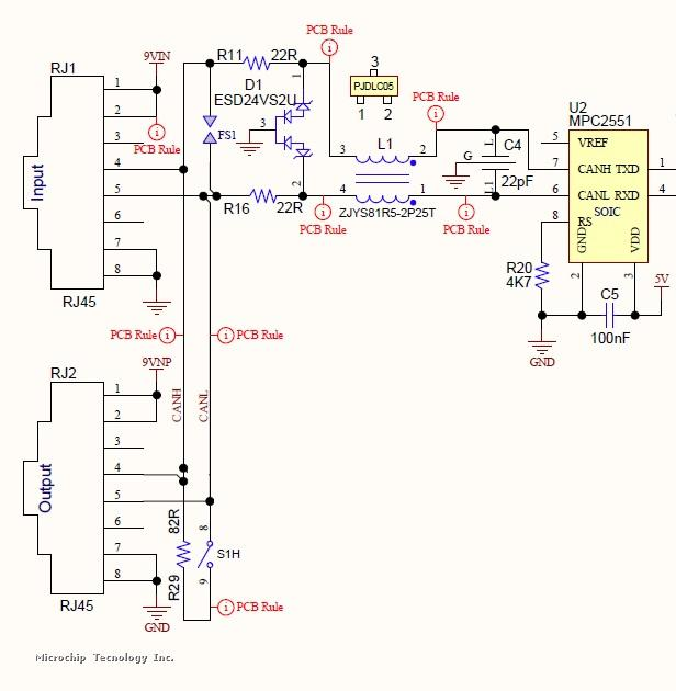 CAN BUS physical layer problems | Microchip