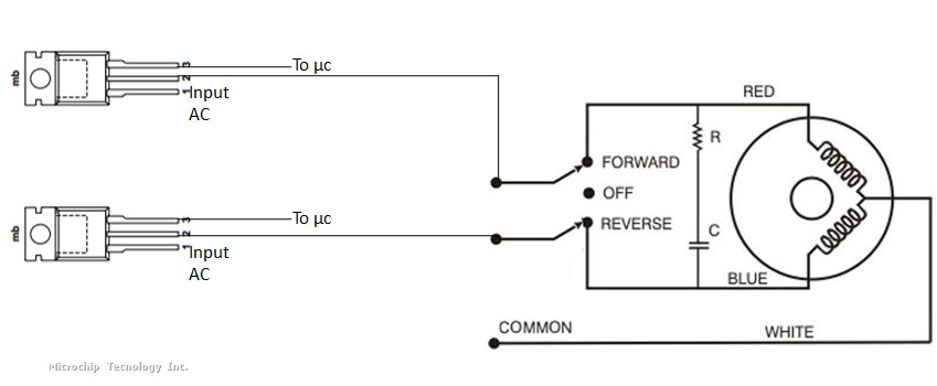 how to control AC Synchronous Motor | Microchip  Phase Synchronous Motor Wiring Diagram on