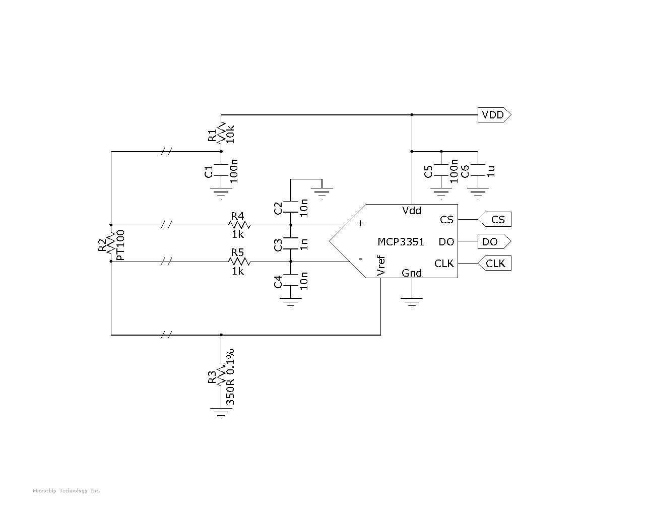 Pt100 Rtd Microchip Analog Compensation Circuit For Temperature Sensor Attached Images