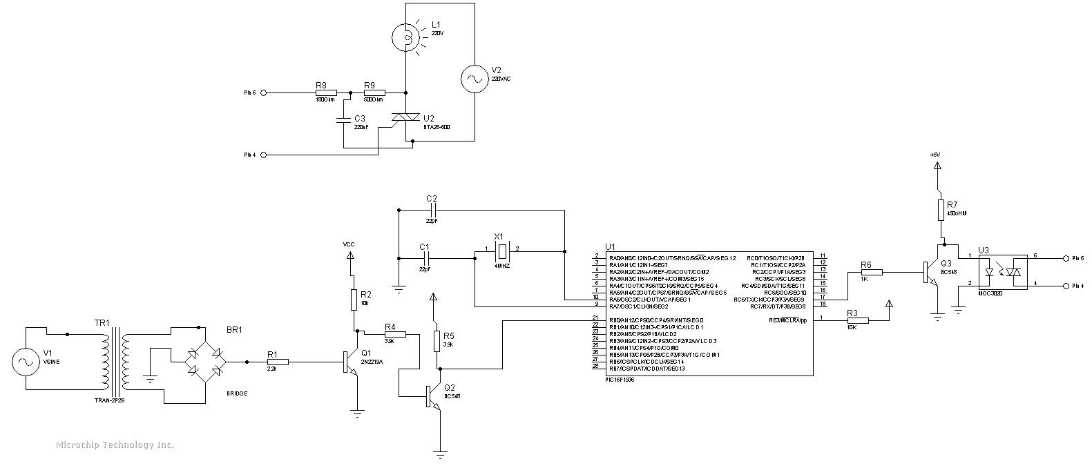Interfacing Pic Microcontroller To A Triac For Ac Load Control Controlling Bipolar Stepper Motors With The Pic16f84 Schematic Circuit Attached Images