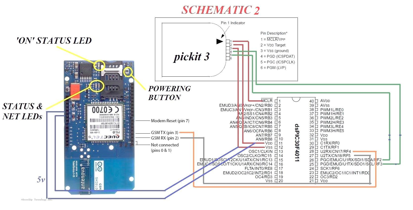 Arduino gsm shield sms text mode problem microchip also remember to be careful with how you connect your rx and tx pins to the gsm module i struggled for some days to get a response from the modem until i pooptronica