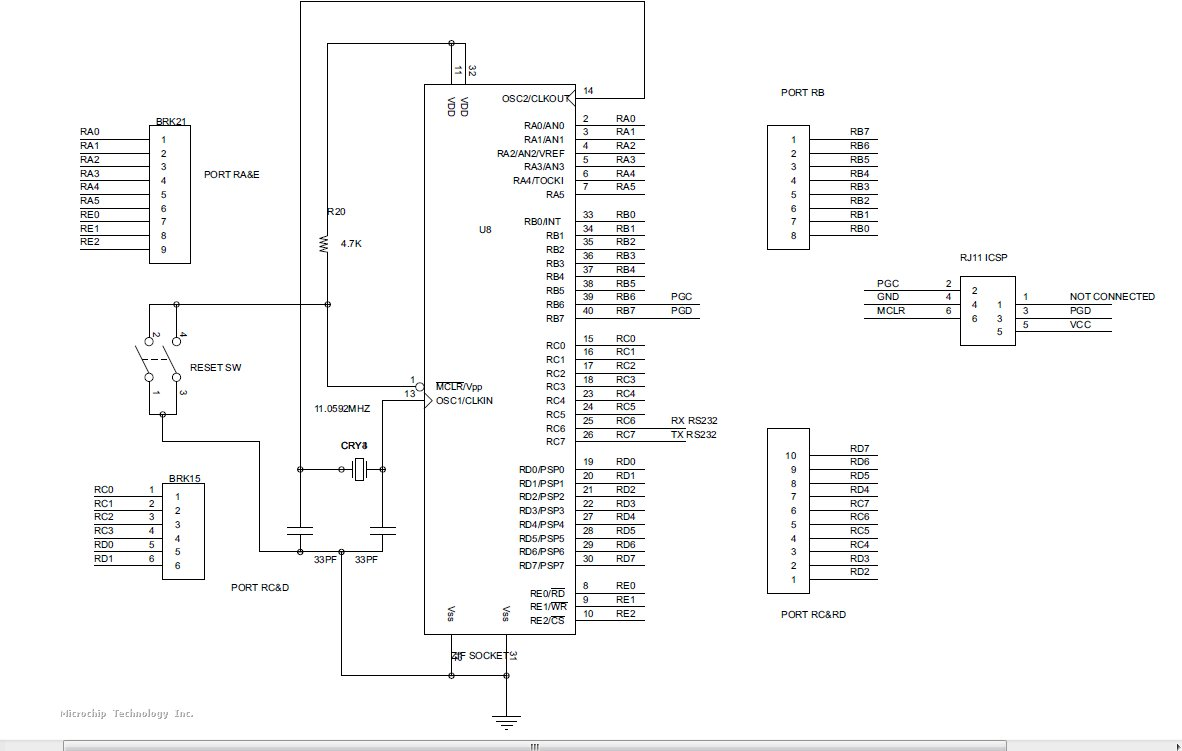 Pic18f458 Uart Working Fine In Proteus Simulation But Isnt Max232 Pin Diagram Attached Images