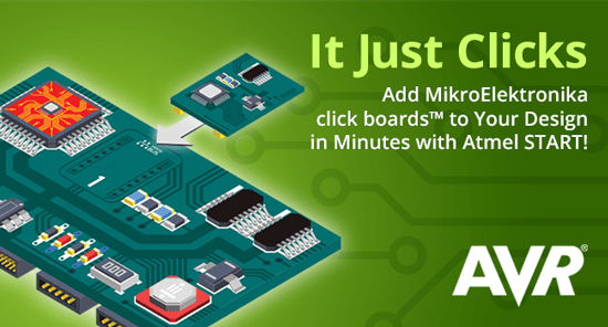 Add MikroElectronika click boards to your design in minutes with Atmel Start