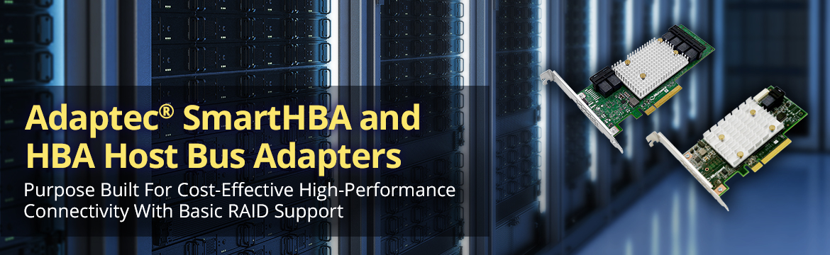 Adaptec SmartHBA and HBA Host Bus Adapters