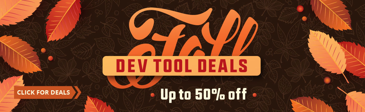 Fall Dev Tool Deals - Up to 50% Off