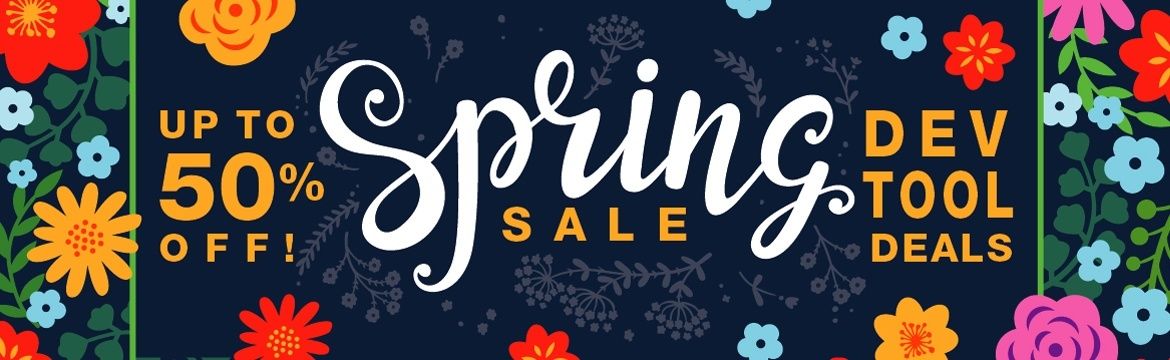 Dev Tools Spring Sale - Up to 50% Off