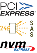 Upcoming Technologies:  PCI Express, 24G > SAS, NVM Express