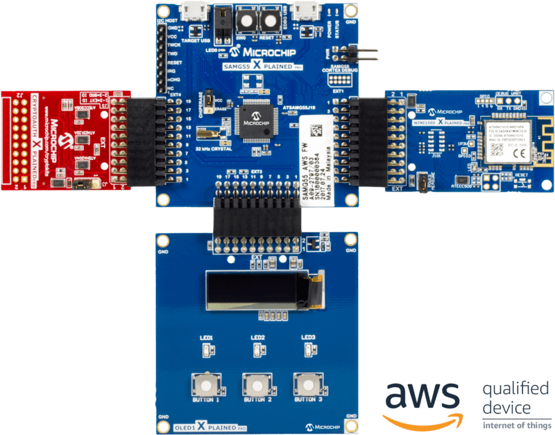 internet of things microchip technologyzero touch secure provisioning kit for aws iot