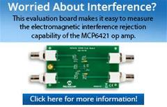 Worried about Interference - MCP6421 Op Amp