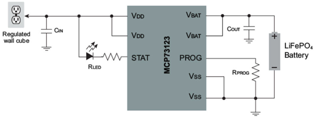 Two Cell Li-Ion / LiFEPO4 Charge Controller Block Diagram