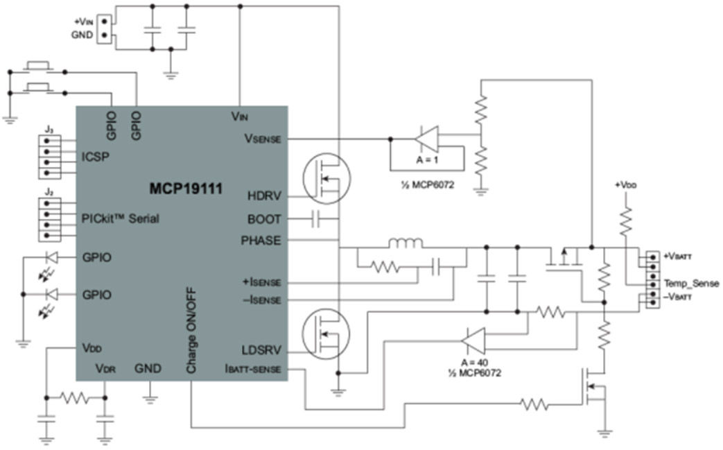 battery management controllers charging, li ion microchip technologyswitching solution for programmable charge controller block diagram