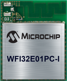 WFI32E01 Wi-Fi MCU Module with Optional Integrated Secure Element