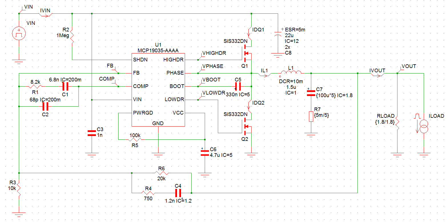 Mplab Mindi Analog Simulator Microchip Technology Is An Application For Design And Simulation Of Electronic Circuits Schematic