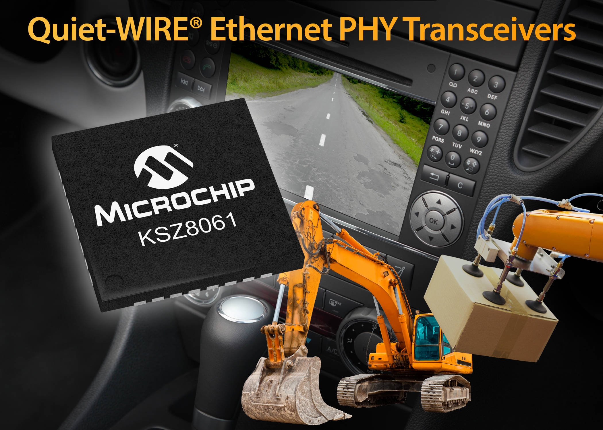 Microchip Ethernet PHY Transceiver Enables Unshielded Twisted Pair