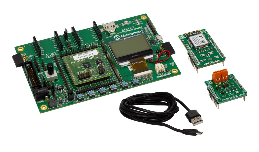 internet of things microchip technologycec1702 iot development kit